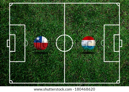 Soccer World Cup 2014 ( Football )  Chile and Netherlands #180468620