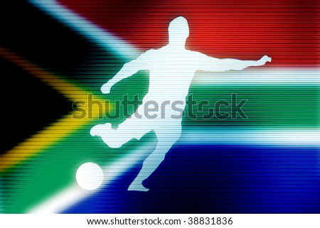 soccer world cup football in south africa image