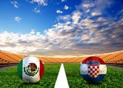 Soccer World Cup 2014 ( Football ) Mexico and Croatia