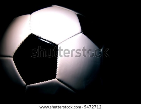 soccerball against a dark background horizontal