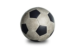 soccerball isolated on white background include vector path for remove background.