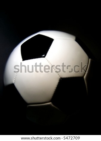 soccerball with a dark background