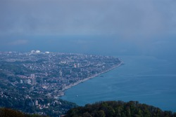 Sochi mountain big Ahun panorama
