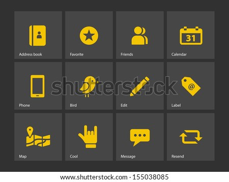Social icons. See also vector version.