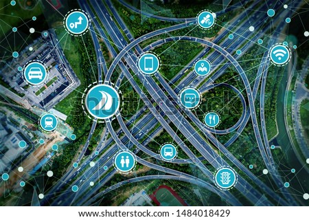 Social infrastructure and communication technology concept #1484018429