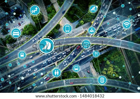 Social infrastructure and communication technology concept #1484018432