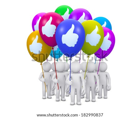 social media balloon symbol like