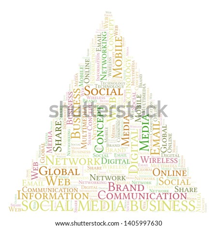 Social Media Business word cloud. Word cloud made with text only.