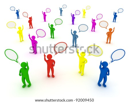Social Media Chat - stock photo