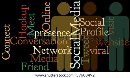 Social Media Collage emphasizes connection.