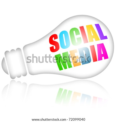 Social media concept isolated over white background