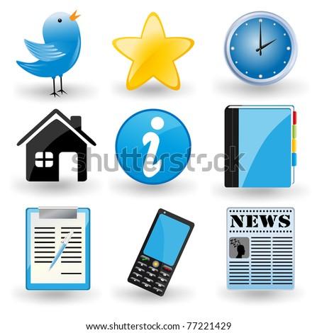 Social media icons - stock photo
