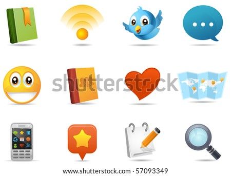 social media icons #1. part of milo icon set