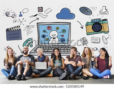 Social Media Internet Technology Concept