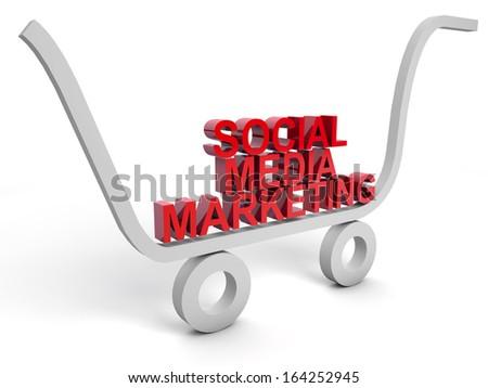 Social Media Marketing over white background