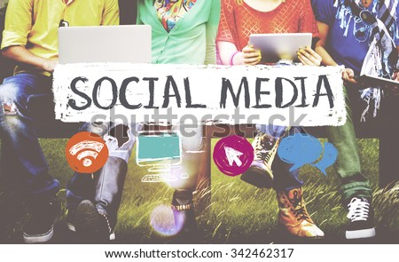 Social Media Networking Connection Concept #342462317