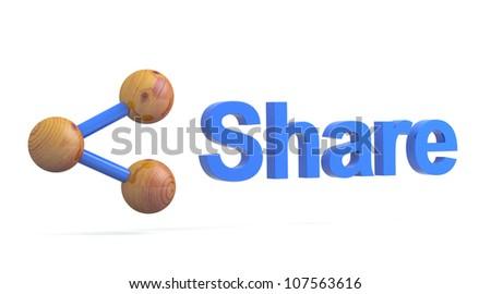 Social media sign. Share icon