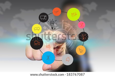 Social media,social net - stock photo