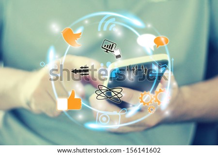 Social media,social network concept #156141602