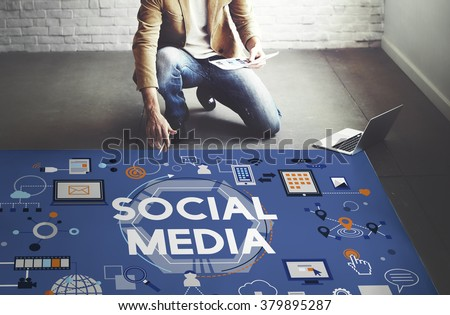 Social Media Social Networking Technology Innovation Concept #379895287
