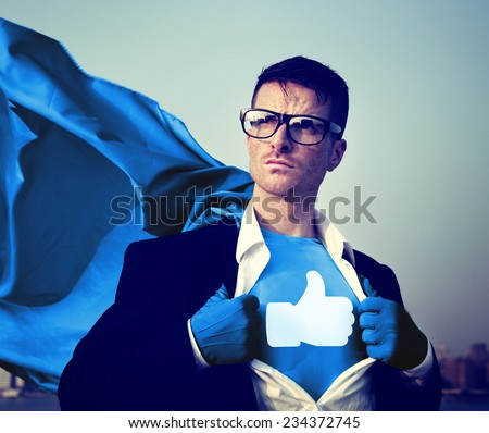 Social Media Superhero #234372745