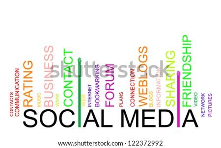 SOCIAL MEDIA text bar-code