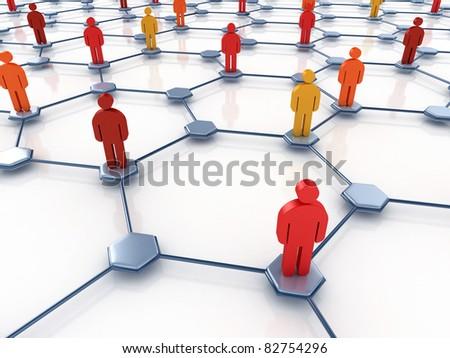 social network abstract Stock photo ©