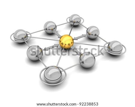 Social network - concept illustration