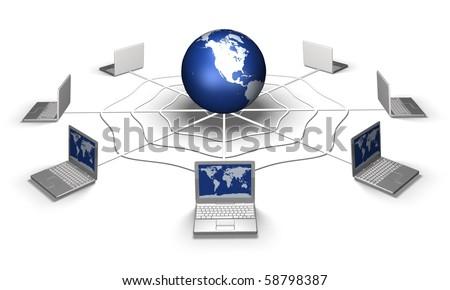 Social network concept, internet concept - stock photo