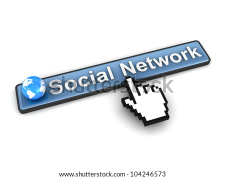 Social network concept on white background