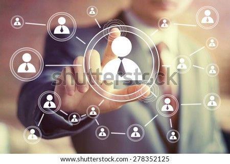 Social Network Interface businessman icon