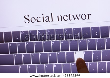 social network on touch screen tablet device
