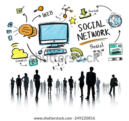 Social Network Social Media Business People Corporate Concept