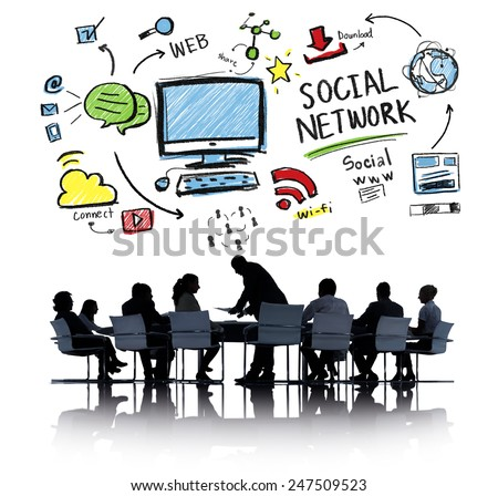 Social Network Social Media Business People Meeting Concept