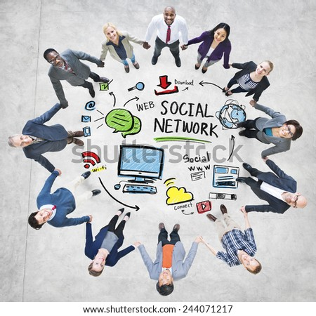 Social Network Social Media Business People Support Concept