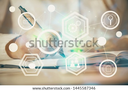 Abstract background networking,social media concept