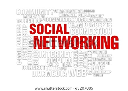 social  networking concept of new media communication, image isolated on a white background