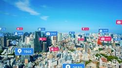 Social networking service concept. SNS marketing. App notification.
