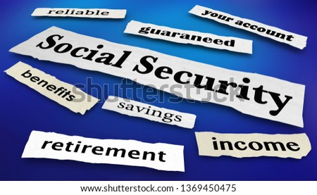 Social Security Benefits Payments News Headlines 3d Illustration