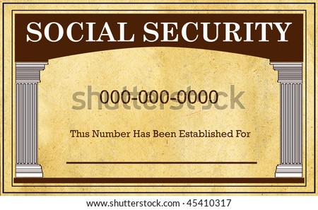 Social Security Card on Parchment Texture