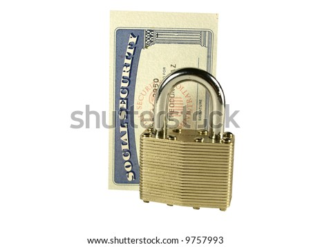 Social Security Card with a padlock