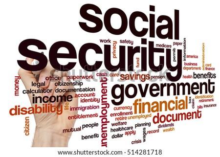Free business card word cloud concept photos avopix social security word cloud concept 514281718 reheart Choice Image