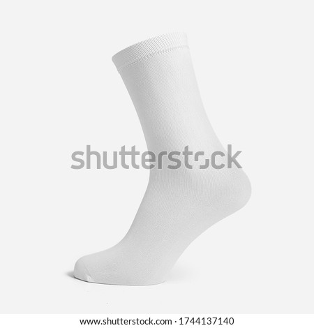 sock mockup isolated 3d rendering