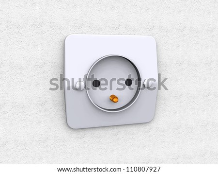 Socket Computer generated 3D illustration