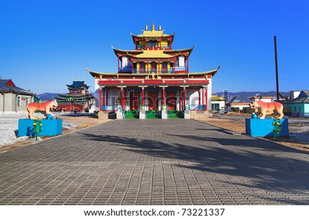 Sockshin-dugan - main temple of the Ivolginsky datsan (buddhist monastery), Buryatia, Russia
