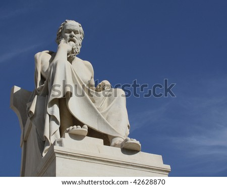 Socrates in Athens with copyspace