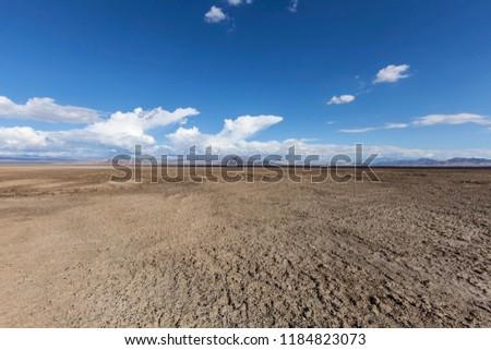 Soda Dry Lake in the middle of the Mojave Desert near Baker California.
