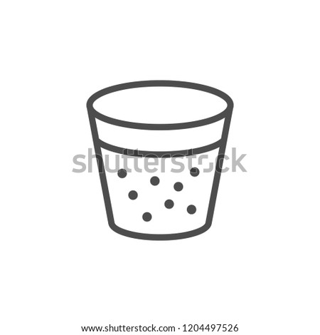 Soda glass line icon isolated on white