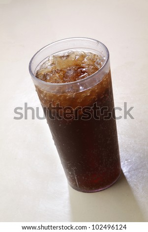 Soda / Glass of soft drink.