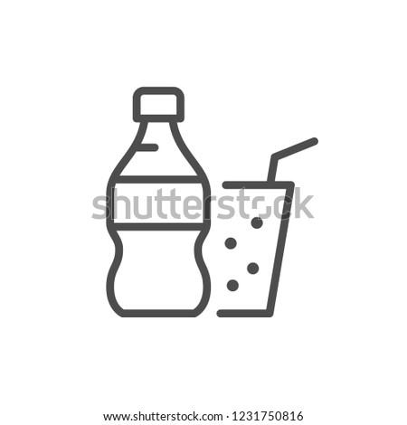 Soda line icon isolated on white